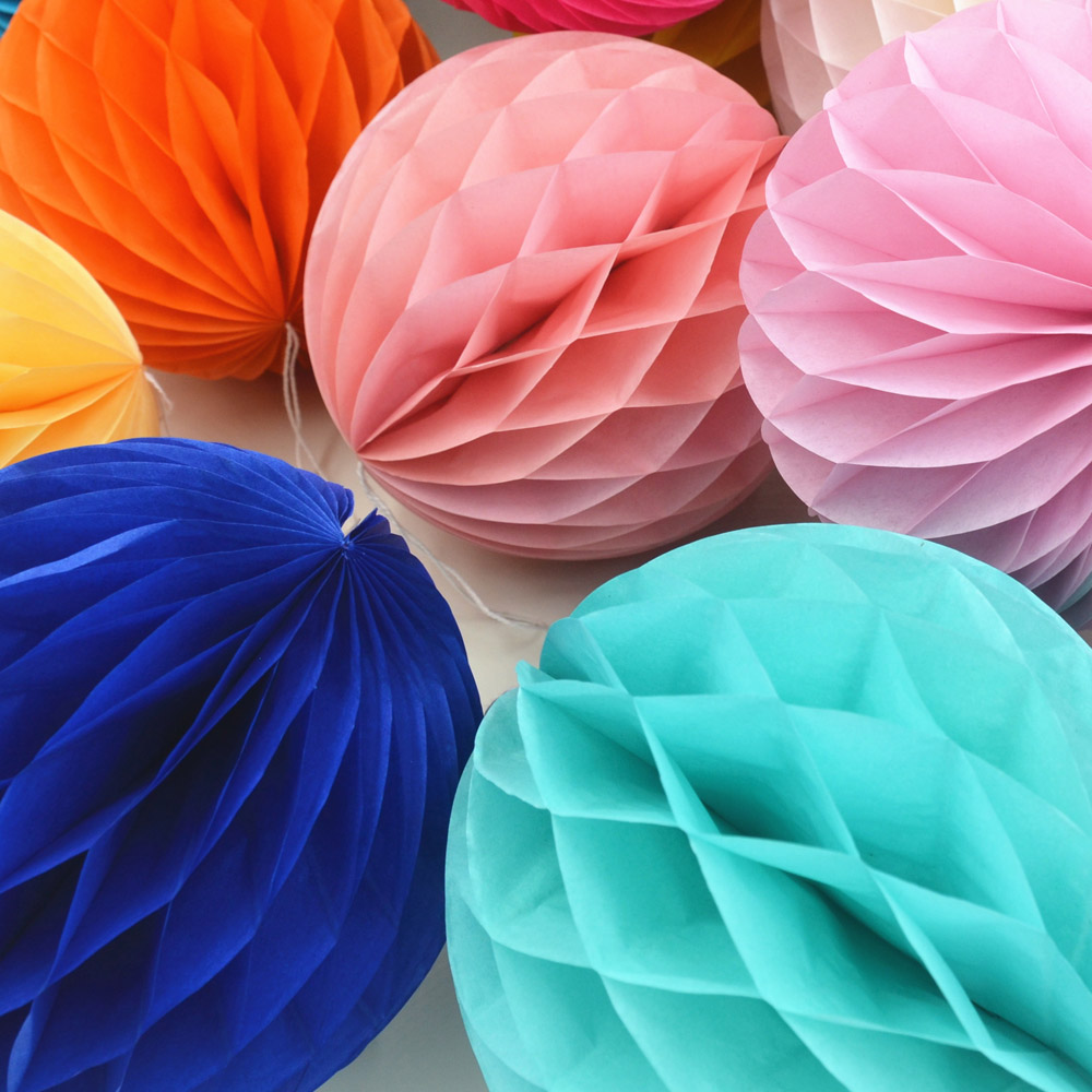 Mix Size 6 8 10 Decorative Flowers Paper Lantern Honeycomb Balls