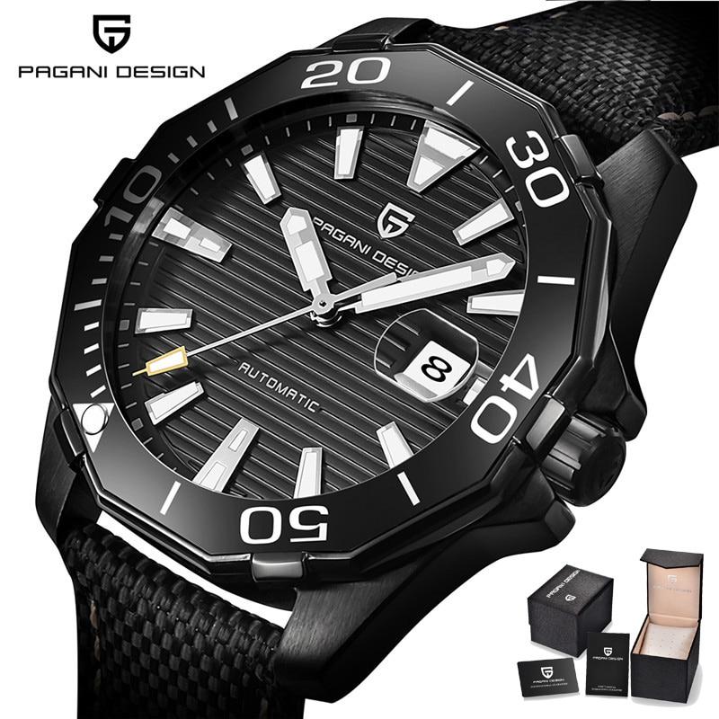 где купить PAGANI DESIGN Military Luminous Watch Men Automatic Wrist Watches for Men Luxury Mechnical Man's Clock Hours Relogio Masculino по лучшей цене