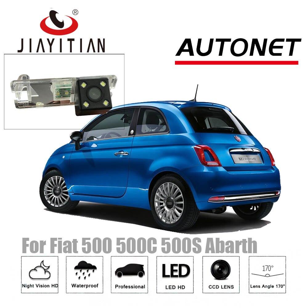 JIAYITIAN rear camera for Fiat 500 500C 500S Abarth 2007~2018/CCD/Night Vision/Reverse Camera/Backup Camera license plate camera