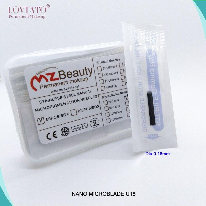Tattoo Needles Dia 0.2mm 500pcs/box 21-pin U Shape Tattoo Eyebrow Needle Manual Needle Blade 3d Embroidery White Microblading Blades-b0 Latest Technology