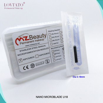 2019 Microblade U18 Needle 316 Stainless Steel Extremely Thin 0.18 U Shape Blades Microblading Needle Blade Nano Tattoo Needles
