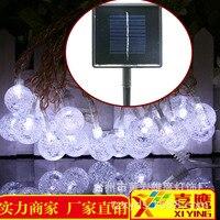 2017 Nieuwe Navidad Vakantie Levert Outdoor Boom Decoratieve Waterdichte Solar Kleurrijke Licht String Bubble Ronde Led Bal Lamp