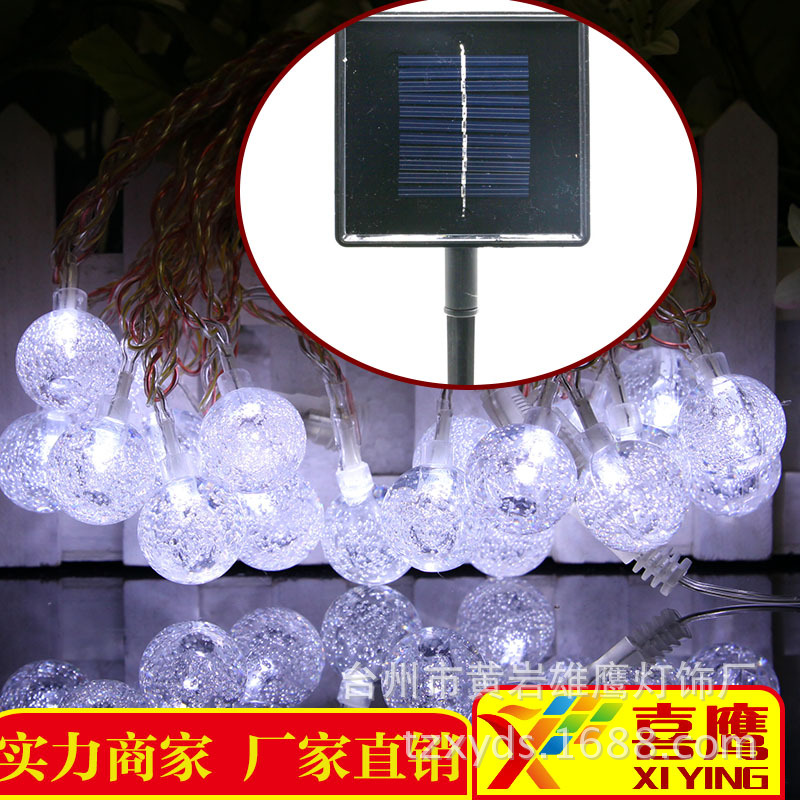 2018 New Navidad Holiday Supplies Outdoor Tree Decorative Waterproof Solar Colorful Light String Bubble Round Led Ball Lamp