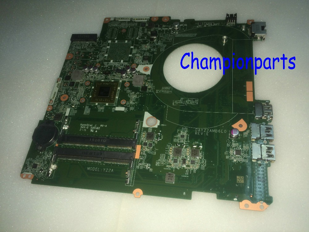 FREE SHIPPING 763422-501 DAY22AMB6E0 REV :E Laptop Motherboard For HP Pavilion 17-F 17Z-F NOTEBOOK PC