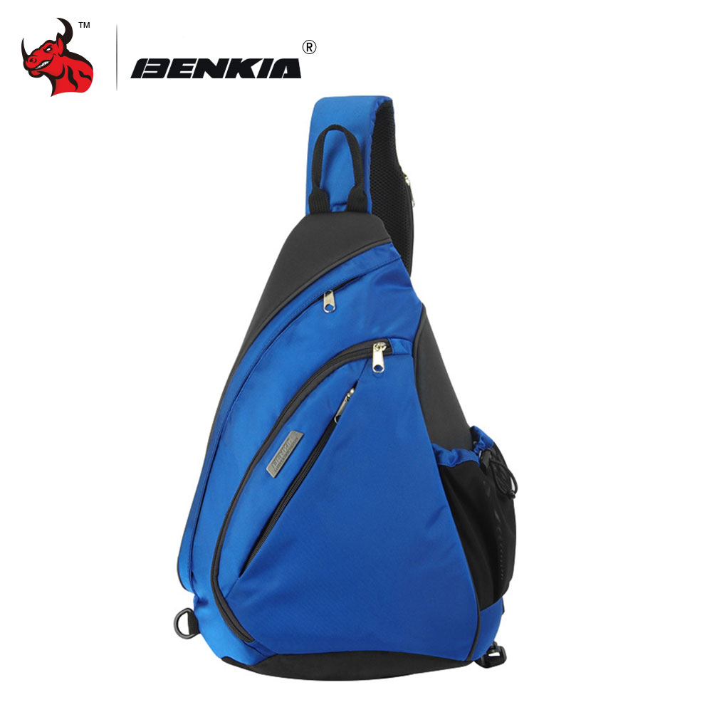 BENKIA Motorcycle Bag Single Shoulder Bag Inclined Shoulder Bag triangle Bag Water Droplets Form Music Package For Men And Women