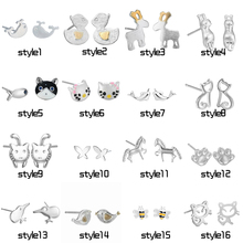 Chereda Korean Jewelry Cute Animal Shape Stud Earrings for Women Statement Ear Small Children Simple Earring Wholesale