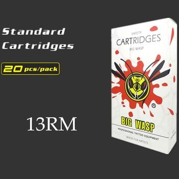 BIGWASP Disposable White Cartridge Needle 13 Curved Magnum (13RM) Tattoo Needle 20Pcs/Box Wholesale Supply