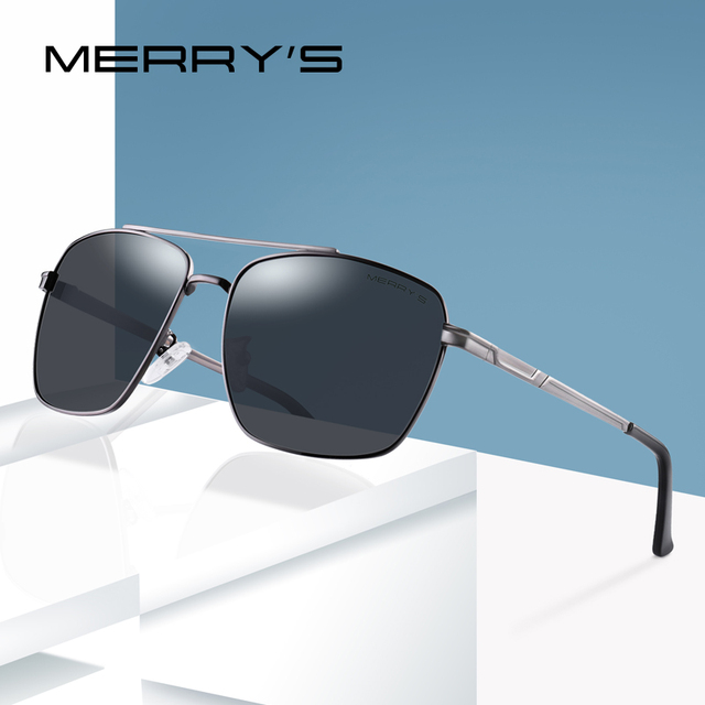 91930e4ccd MERRY S DESIGN Men Classic Sunglasses Aviation Frame HD Polarized Lens  Eyewear Accessories Sun UV400 Protection S 8150