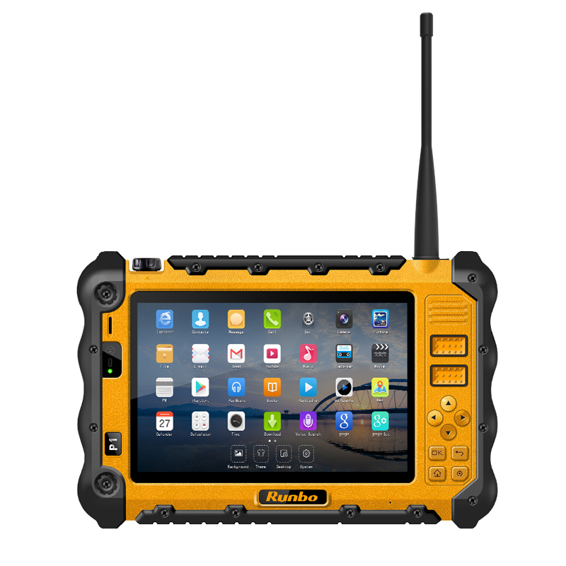 China Rugged Industrial Waterproof Tablet Phone PC UHF VHF PTT Radio 7 1920x1200 Dual Sim Android
