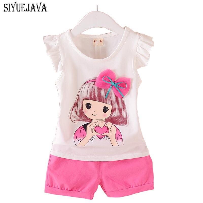 0-2Years 2018 Baby Girl Clothes Set Letnia Bawełniana Odzież - Odzież dla niemowląt - Zdjęcie 1