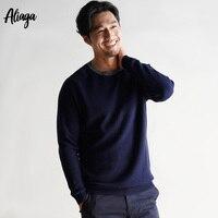 Мужские кашемировые свитера зима осень О образным вырезом с длинным рукавом 100% из чистого кашемира пуловеры Повседневное мягкий теплый три