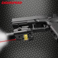 Universal Mira Laser Tactical Laser Flashlight Combo Self Defense Weapons Airsoft Glock Rifle Pistol Laser Para Pistola