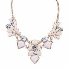 2016 новое поступление смолаы мода красочные симпатичные шарм драгоценного ожерелья цветка и подвески мода ювелирных изделий женщина подарок летний стиль