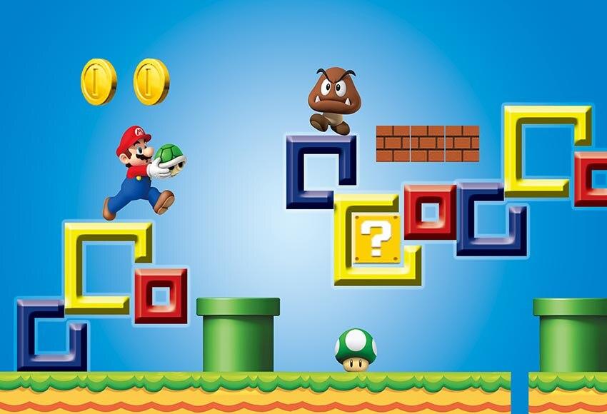 Happy Birthday Super Mario Brother Game Photo Background