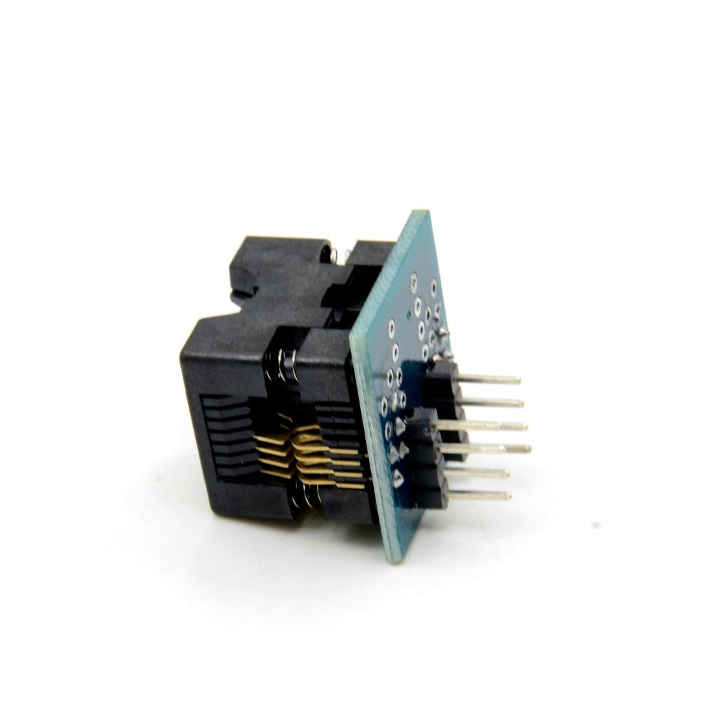 SOIC8 SOP8 DIP Flash Chip IC Test Clips Socket Adpter Programmer Converter 150mi
