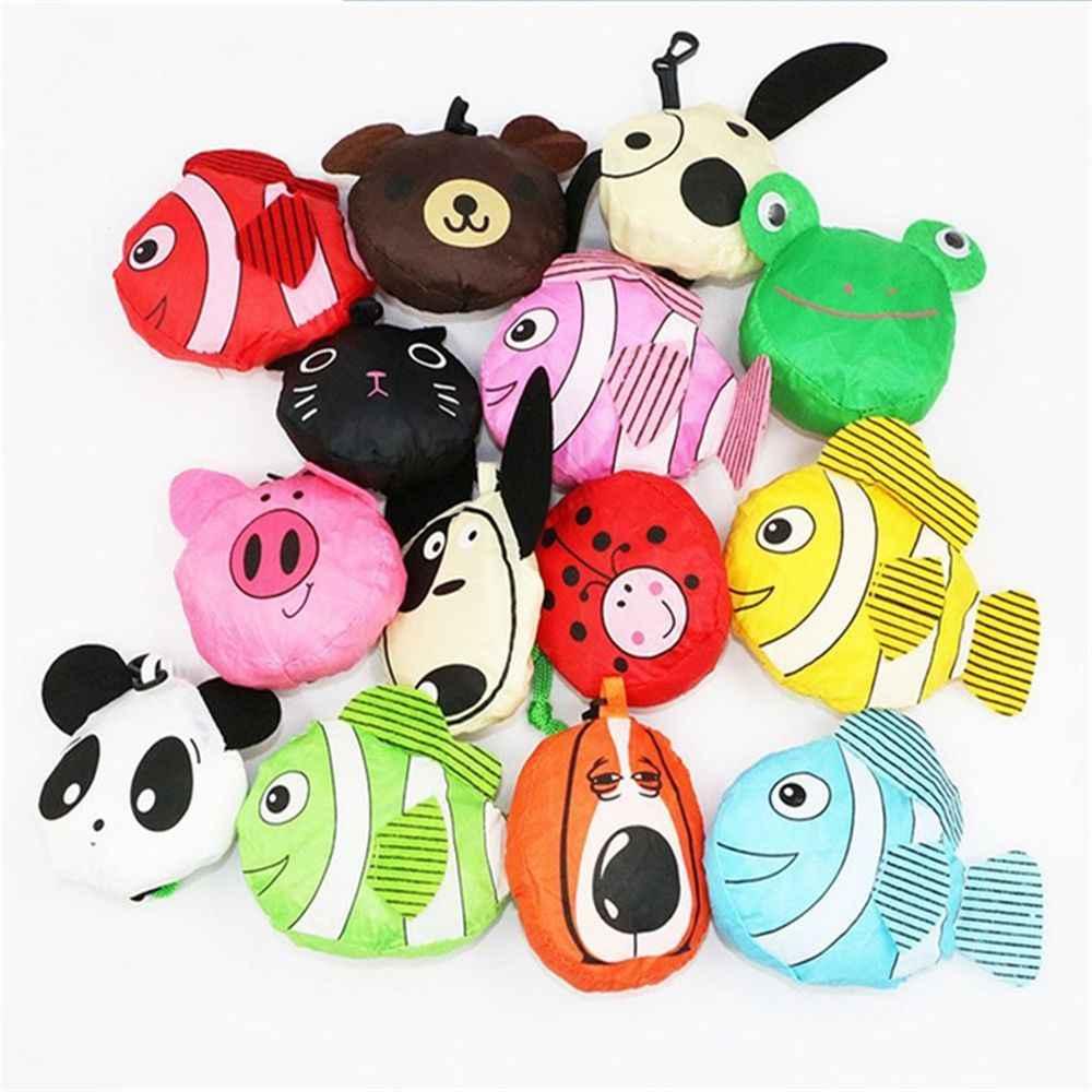 Складная сумка-тоут в форме Милого Животного, Экологичная, для девушек, в подарок, складная, многоразовая, портативная, для путешествий