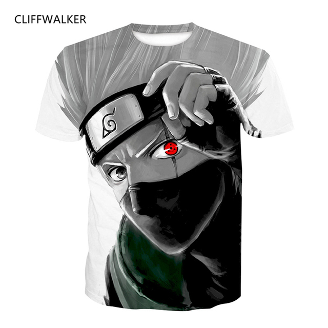 Drop Shipping New Anime Naruto Printed Cool Kakashi 3D T shirt For Men s Women s  T-shirts Harajuku Tee Shirts Casual Tshirt Tops 4423494e1f
