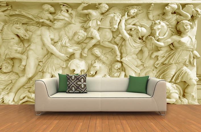 Online get cheap sandstone wall alibaba for Escultura mural