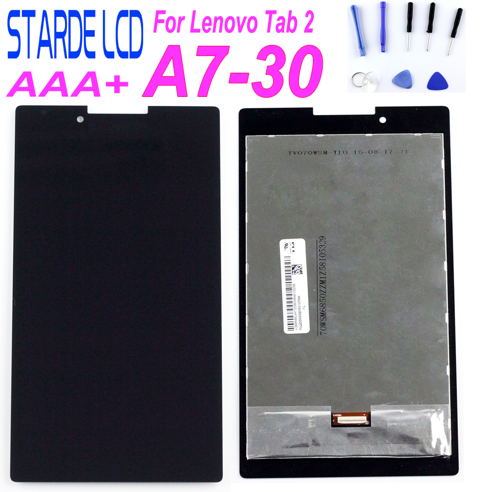 Starde For Lenovo Tab 2 Tab2 A7-30HC A7-30 A7-30DC LCD Display Touch Screen Digitizer Sensors Glass Assembly  Parts