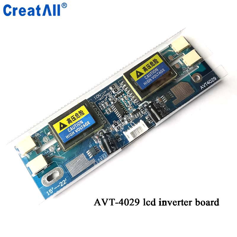 50pcs/lot Creatall Avt4029 New PC Monitor CCFL 10V-28V 4 Lamps Universal Lcd Inverter