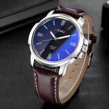Men Watch Retro Design Faux Leather Blue Ray Glass Clock Male Military Sport Quartz Wristwatch Relogio Masculino erkek kol saati jedirmens watches military sport quartz watch men fashion chronograph leather wristwatch relogio masculino erkek kol saati n95