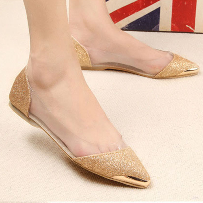 Women Brand Fashion New Ladies Flat Casual Shoes Comfortable Women Shoes Pointed Toe Female Gold Bling Lady Shoes Woman Slip On цена 2017