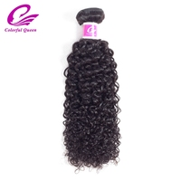 Colorful Queen Brazilian Afro Kinky Curly Hair Bundles 1 Piece 100 Human Hair Weaving Natural Color