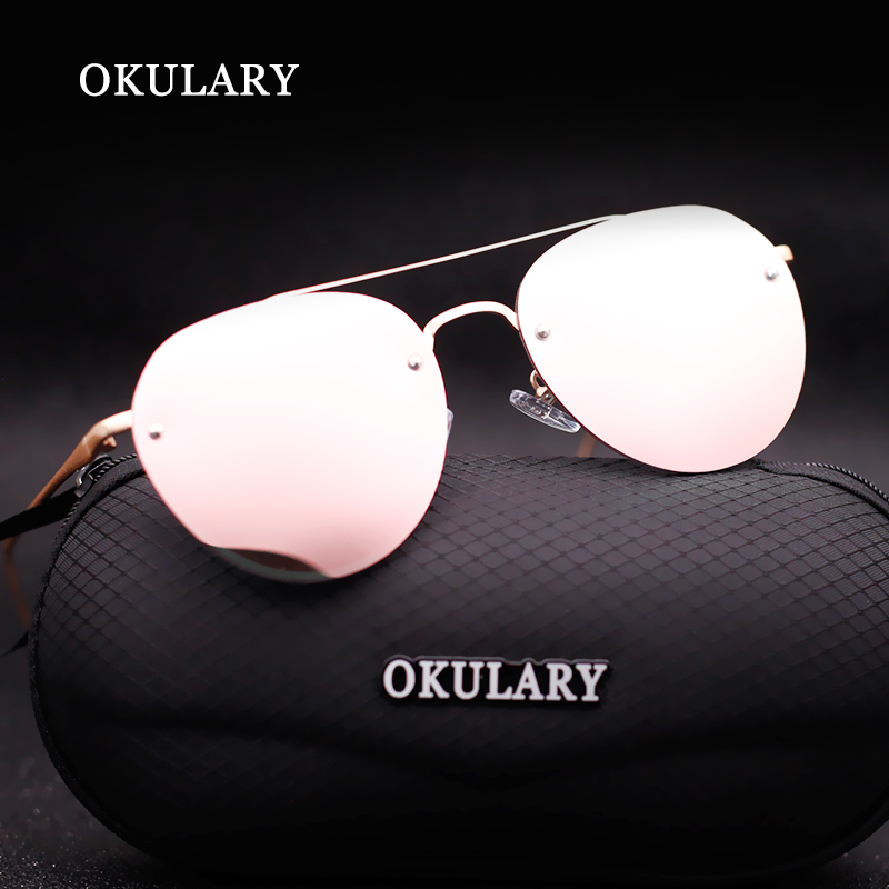2018 New Women Oval Sunglasses 4 Color UV400 With Box