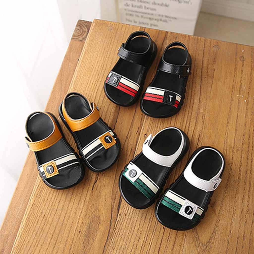Children Shoes Toddler Boy Girl Beach Sandals Casual Fashion Spring Shoe Flat Sport Solid Simple Soft Sandals Toddler Sneakers