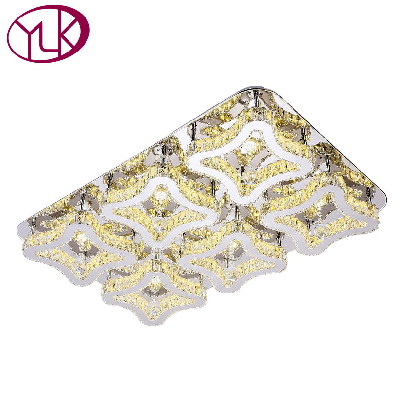 Top Quality Square Modern LED Crystal Ceiling Light For Living Room Luxury Lustres De Cristal Lamp AC110-240V Indoor Lighting top quality single ring crystal home lighting modern led crystal chandelier light fixture living room lustres de cristal lamp