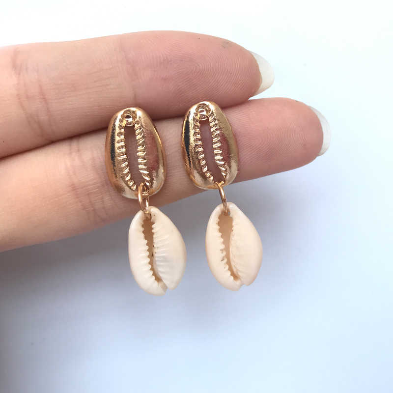 New Sea Shell Earrings For Women Bohemain Ocean Natural Shell Cowrie Statement Earring 2019 Beach Fashion Jewelry wholesale