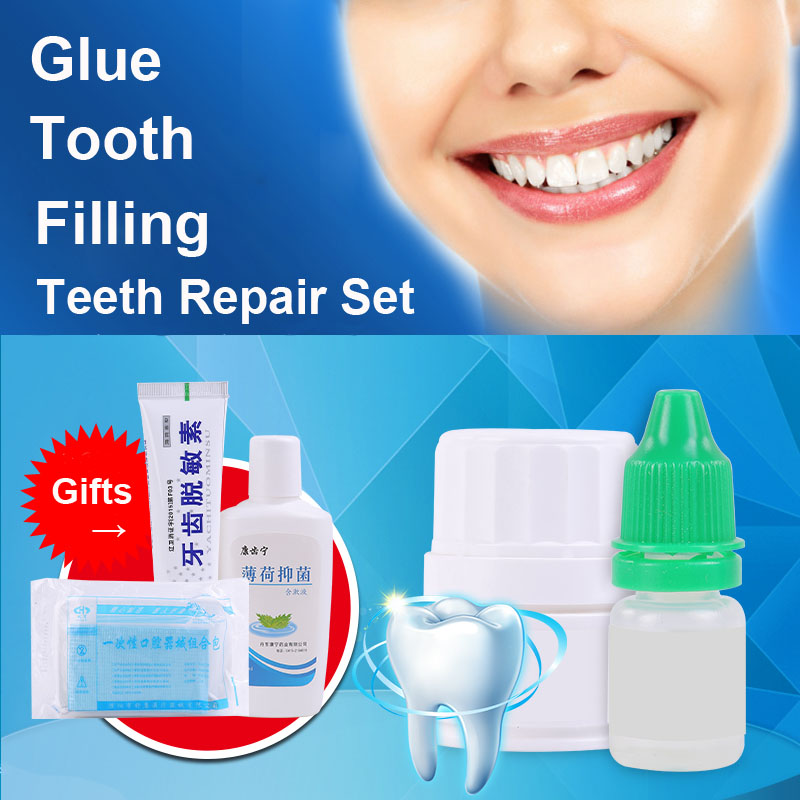 Liquid Living Tooth Filling <font><b>Glue</b></font> for Teeth Hole Slit Oral Mouth Cavity Sealing Nurse Care Doctor Home Accessory DIY Repair Kit
