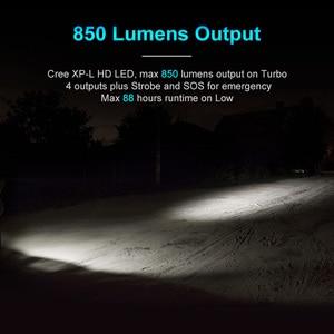 Image 2 - Lumintop b01 luz para bicicleta micro usb, recarregável, lanterna 21700/18650, antirreflexo, design de 850 lúmens, 210 metros