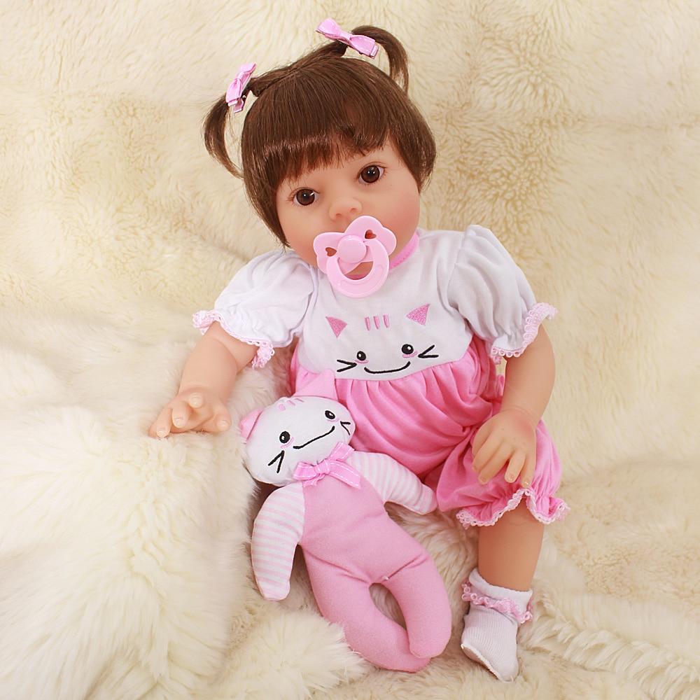 Otardpoupées 20 pouces bebe Reborn poupée 50 Cm nouveau-né fille Bebe mode réaliste Reborn Bonecas enfant cadeau peut baigner Brinquedos