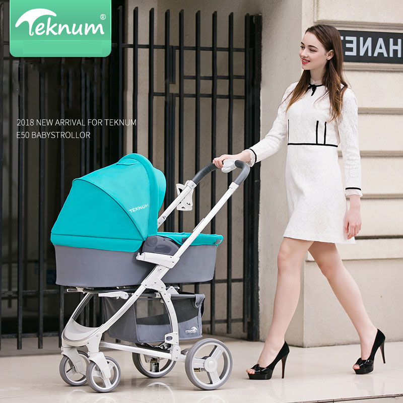 TEKNUM Baby strollers can sit reclining folding High Landscape light Newborn baby stroller baby car купить недорого в Москве