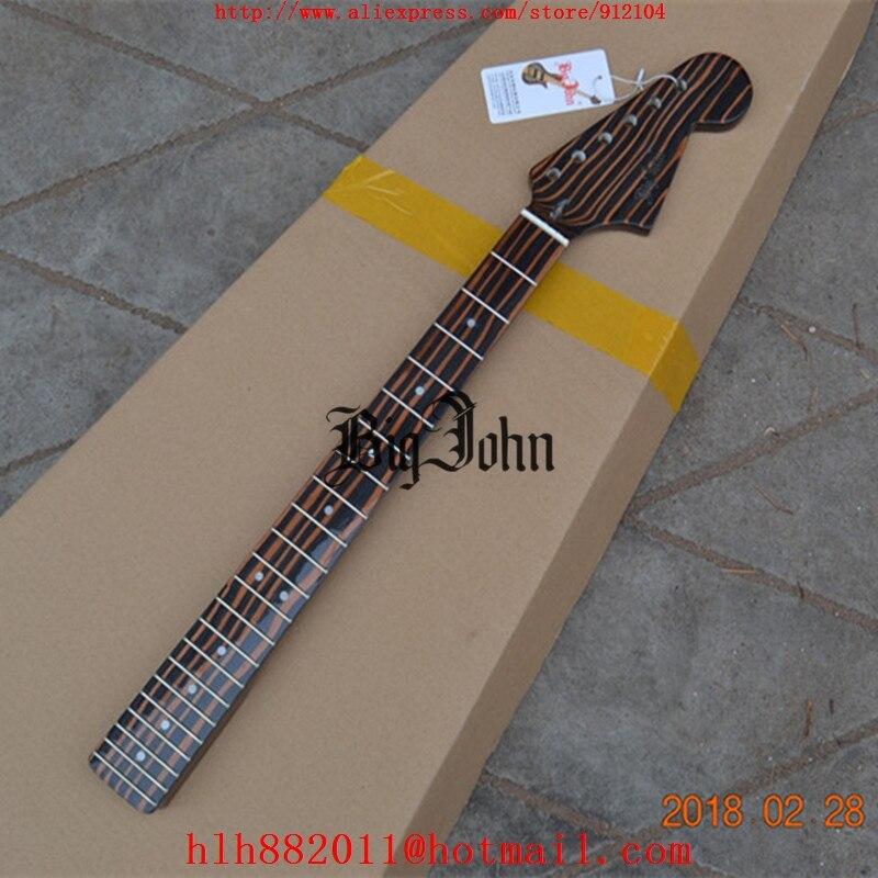 free shipping new big john single wave electric guitar zebra wood neck without hardware f 3417. Black Bedroom Furniture Sets. Home Design Ideas