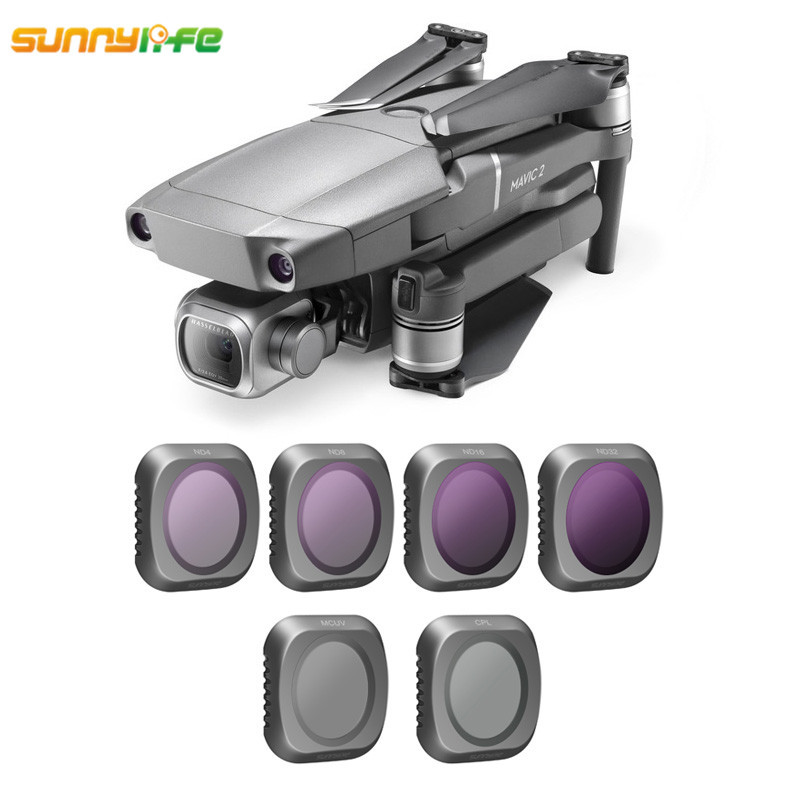 Sunnylife DJI MAVIC 2 PRO Lens Filter MCUV CPL ND4 ND8 ND16 ND32 Gimbal Camera Filter Set For DJI MAVIC 2 Pro Drone AccessoriesSunnylife DJI MAVIC 2 PRO Lens Filter MCUV CPL ND4 ND8 ND16 ND32 Gimbal Camera Filter Set For DJI MAVIC 2 Pro Drone Accessories