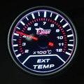 52mm Ext temp medidor Pointer Car Exhaust Gas Temperatura EGT Medidor Para Motocicleta E MeterFree envio gratuito de Temperatura de Exaustão Do Carro