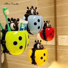 Ny 1pc 13,5 * 14 * 3,5cm Kreativ Gullig Kraftig Sugborsthållare Tandkräm Gul tandborstehållare för badrumsinredning