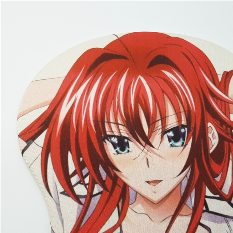 Anime High School DXD Rias MousePad 3D Butt Silicone Wrist Rest Mouse Pad Mat