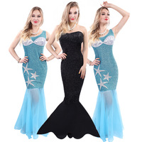 Hot Selling Newest Halloween Costumes Adult Women's Masquerade Mermaid Performance Halloween Photo Studio COSPLAY Clothes Tail