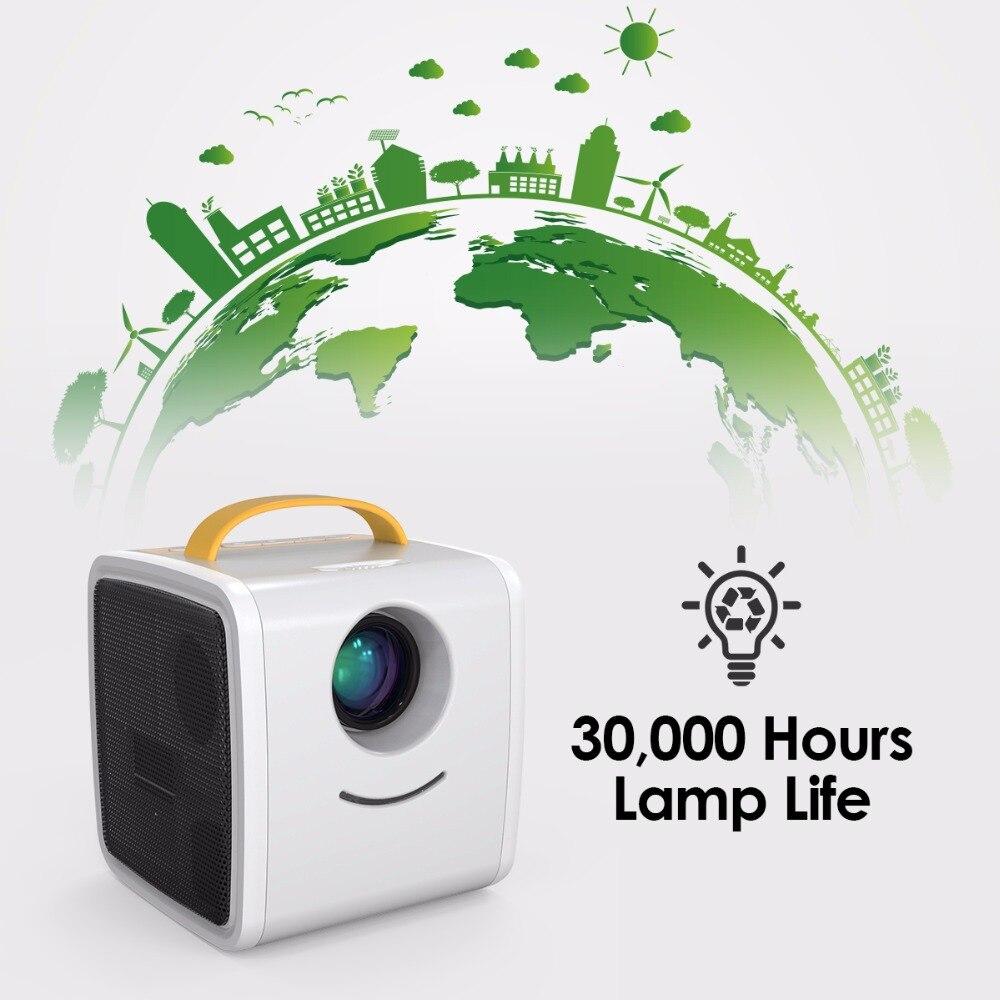 Excelvan Q2 MINI projecteur 700 Lumens enfants éducation cadeau pour enfants Parent-enfant projecteur Portable Mini LED TV Home Beamer - 5
