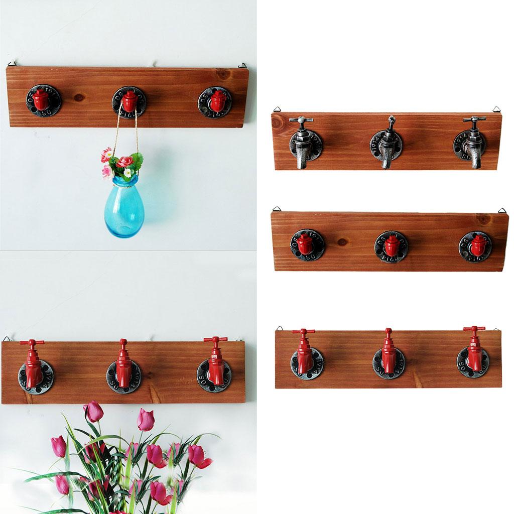 Us 22 95 44 Off Rustic Industrial Faucet Design Wall Mounted Iron Coat Hooks Garment Hanger Towel Rack In Storage Holders Racks From Home Garden