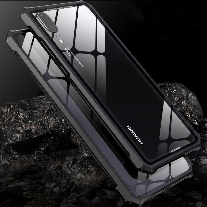 Original LUPHIE para HUAWEI P20/P20 Pro/P20 Lite marco de aluminio de Metal + 9 H vidrio cubierta trasera caso a prueba de choques