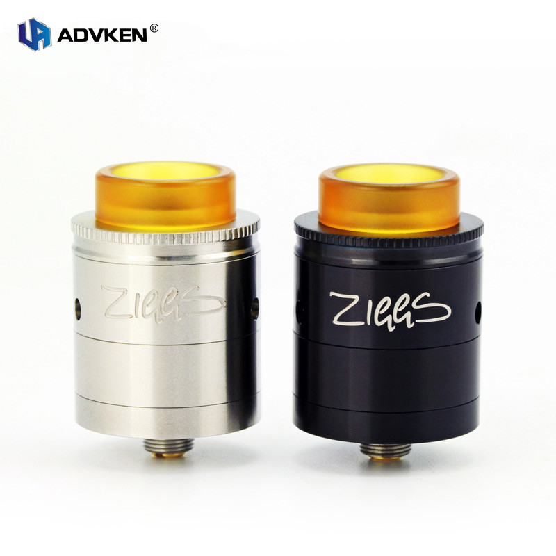100 Original ADVKEN Ziggs RDTA Electronic Cigarette Vaping Tank Atomizer With 2 5ML Rebuildable Dripping Tank