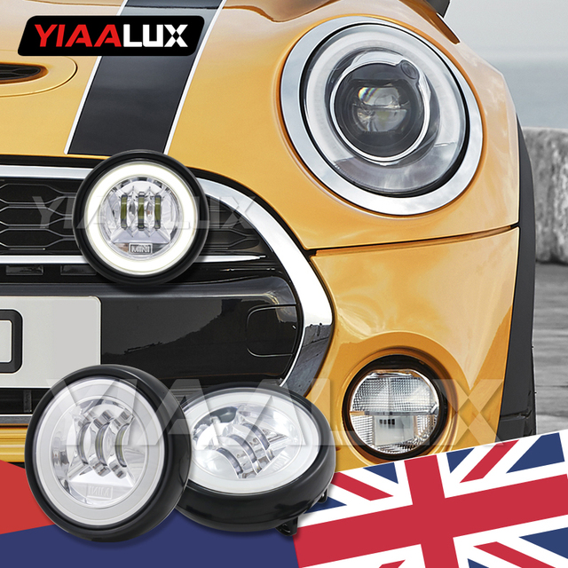 Angel Eyes Black Led Rally Driving Lights For Mini Cooper Front Per Yiaalux