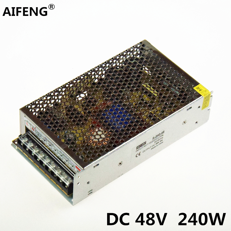 AIFENG 48v power supply AC110V/220V to DC 48V 5a 240W Voltage Converter 48v Switching Power Supply for Mechanical Motor aifeng 48v power supply 5a 240w ac 110v 220v to dc 48v 5a 240w switching power supply for led light motor monitor transformer