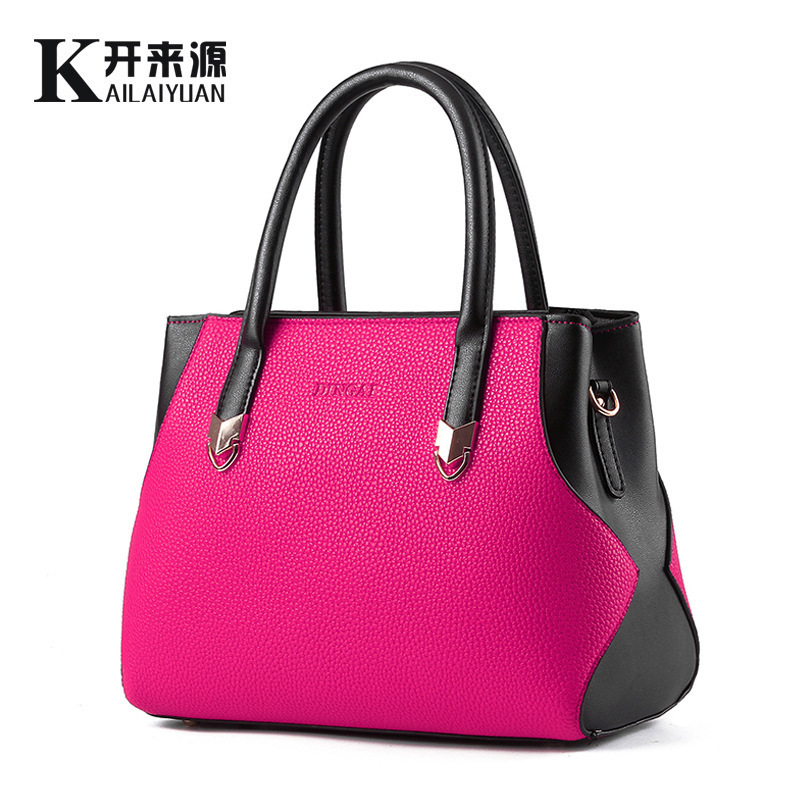 Woman Package 2016 New Pattern Bag Ma'am Lady Split Joint Color Fashion Woman Package Messenger Single Shoulder Handbag