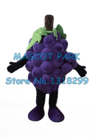Fresh Purple Grape Mascot Costume with Leaves adult size cartoon grape theme anime cosplay costumes carnival fancy dress suit