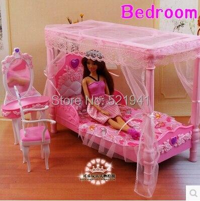 Il trasporto Libero, rosa letto Dresser Set camera da letto della ...